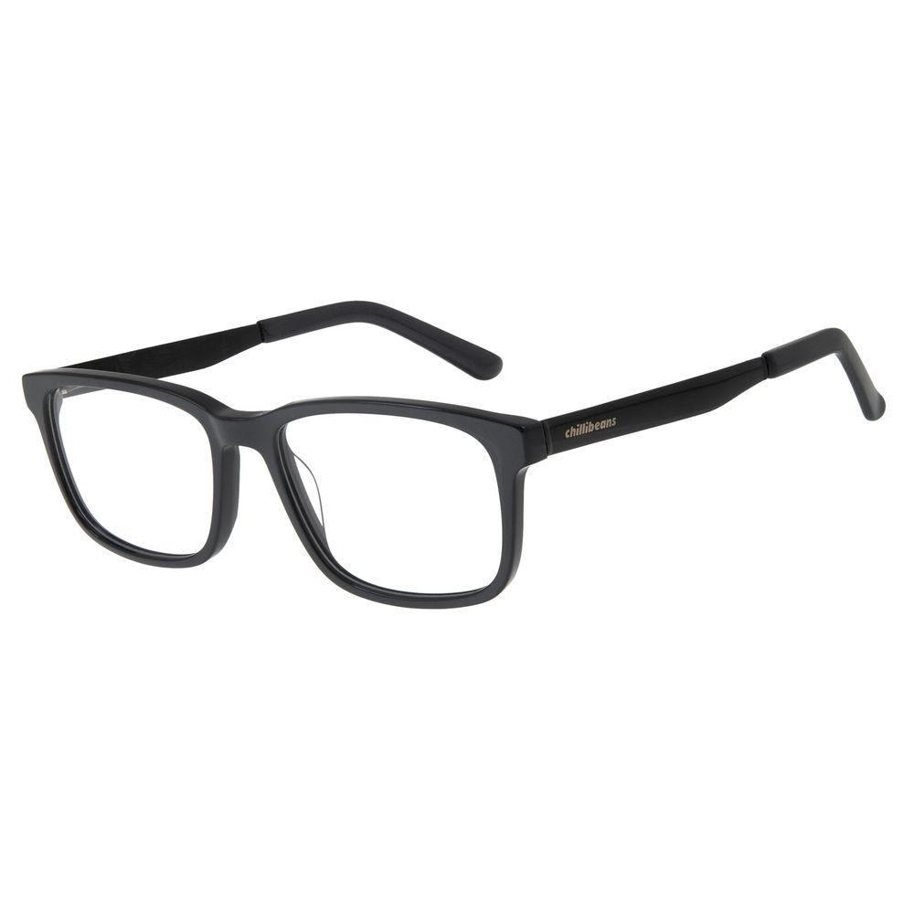 Armação Para Óculos de Grau Masculino Chilli Beans Classic Cinza Escuro LV.AC.0544-2828
