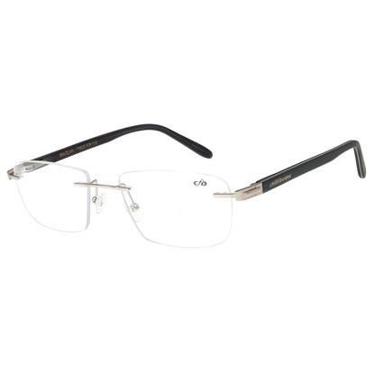 Armação Para Óculos de Grau Masculino Chilli Beans Classic Prata LV.MT.0383-0707