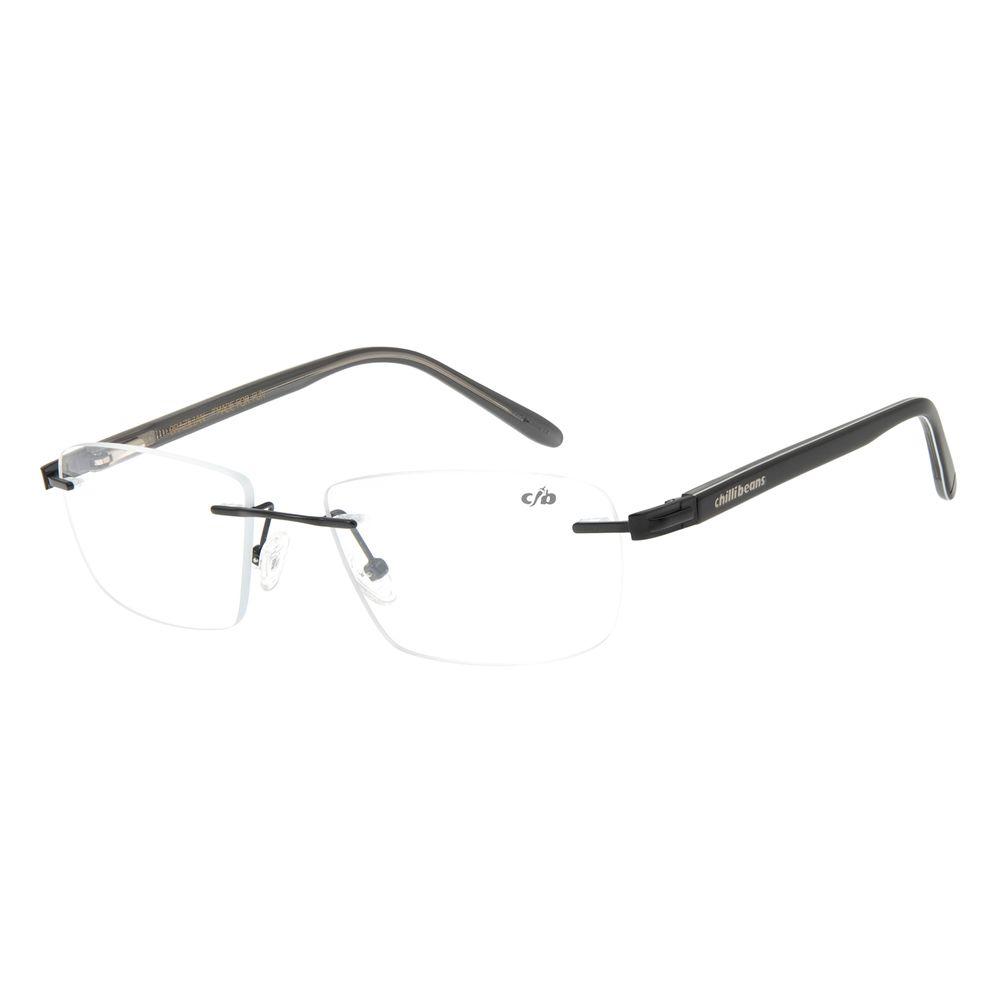 Armação Para Óculos de Grau Masculino Chilli Beans Classic Preto LV.MT.0383-0101