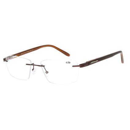 Armação Para Óculos de Grau Masculino Chilli Beans Classic Marrom LV.MT.0383-0202