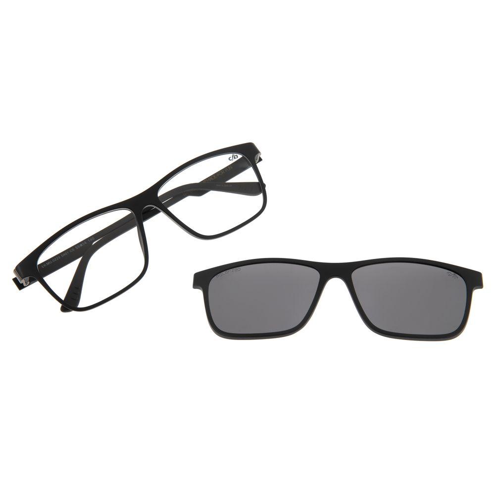 Armação Para Óculos De Grau Masculino Chilli Beans Retangular Multi Preto Polarizado LV.MU.0223-0401