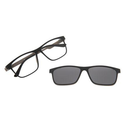 Armação Para Óculos De Grau Masculino Chilli Beans Retangular Multi Cinza Polarizado LV.MU.0223-0404