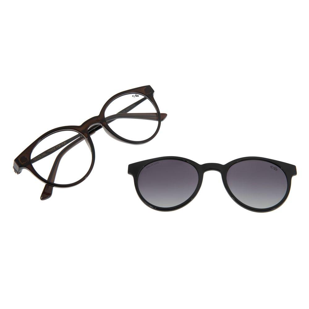 Armação Para Óculos de Grau Masculino Chilli Beans Multi Marrom Escuro LV.MU.0254-2047