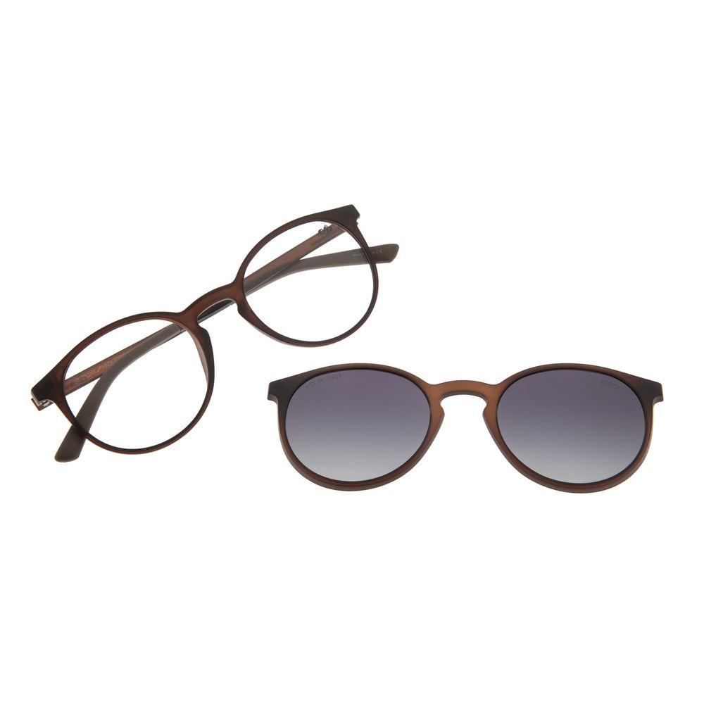 Armação Para Óculos de Grau Feminino Chilli Beans Multi Marrom Polarizado LV.MU.0308-2002