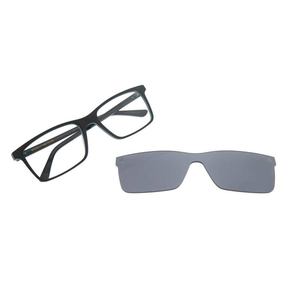 Armação Para Óculos De Grau Masculino Chilli Beans Multi Retangular Verde LV.MU.0310-0415