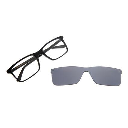 Armação Para Óculos De Grau Masculino Chilli Beans Multi Retangular Preto LV.MU.0310-0401