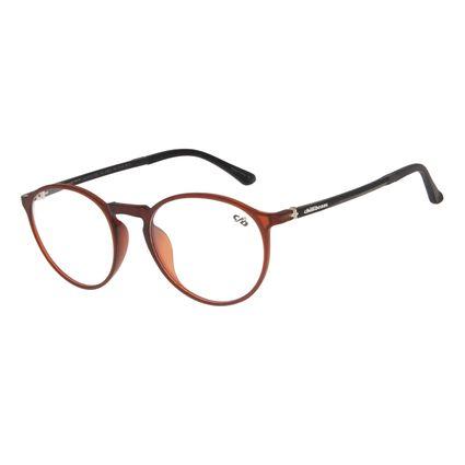 Armação Para Óculos de Grau Masculino Chilli Beans Redondo Marrom LV.IJ.0112-0202