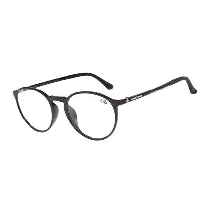 Armação Para Óculos de Grau Masculino Chilli Beans Redondo Preto LV.IJ.0112-0101