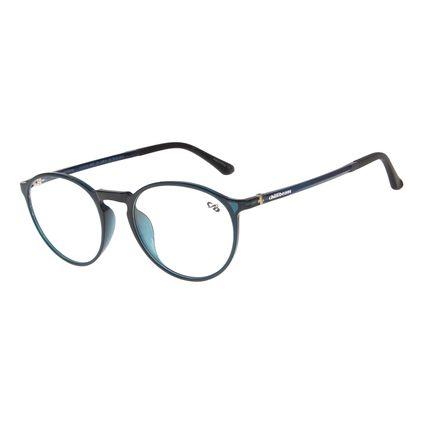 Armação Para Óculos de Grau Masculino Chilli Beans Redondo Azul LV.IJ.0112-0808