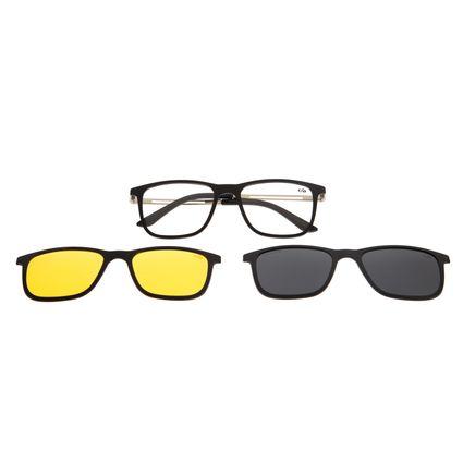 Armação Para Óculos De Grau Chilli Beans Multi Night Vision Prata LV.MU.0326-0107