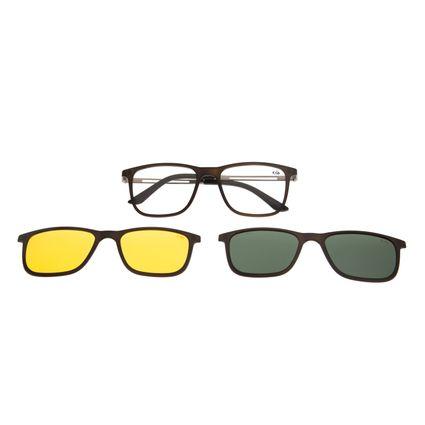 Armação Para Óculos De Grau Chilli Beans Multi Night Vision Grafite LV.MU.0326-0224