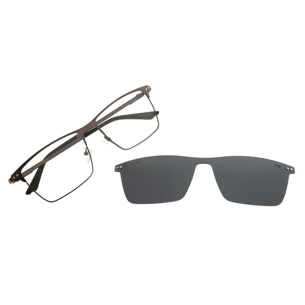 Armação Para Óculos De Grau Masculino Chilli Beans Multi Cinza Escuro Polarizado LV.MU.0324-0128