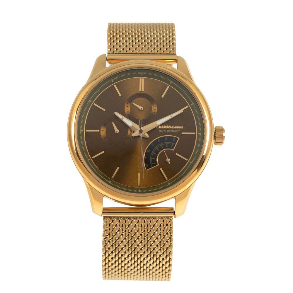 Relógio Analógico Masculino Chilli Beans Multi Moviment Metal Dourado RE.MT.0941-1521