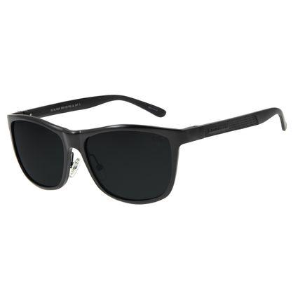 Óculos De Sol Masculino Chilli Beans Quadrado Preto Polarizado OC.AL.0241-0101