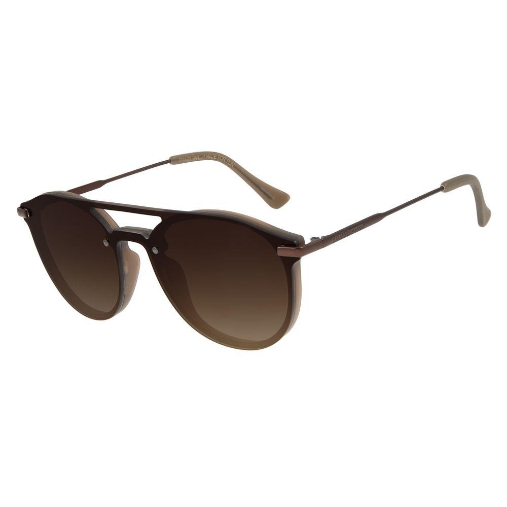 Óculos de Sol Unissex Chilli Beans Redondo Marrom OC.CL.2943-5702