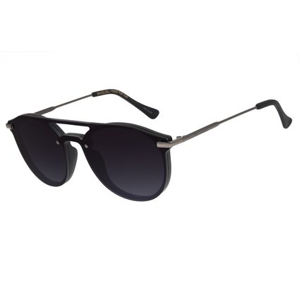 Óculos de Sol Unissex Chilli Beans Redondo Preto C.CL.2943-2001