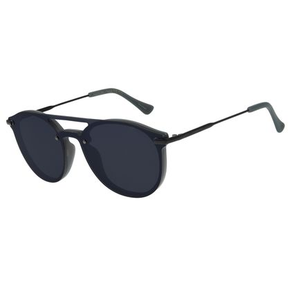 Óculos de Sol Unissex Chilli Beans Redondo Preto OC.CL.2943-0101