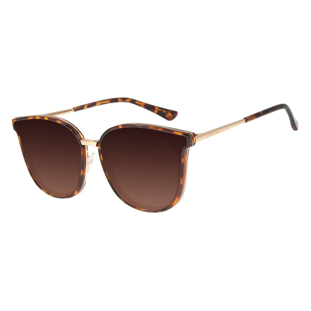 Óculos de Sol Feminino Chilli Beans Quadrado Tartaruga OC.CL.2977-5706