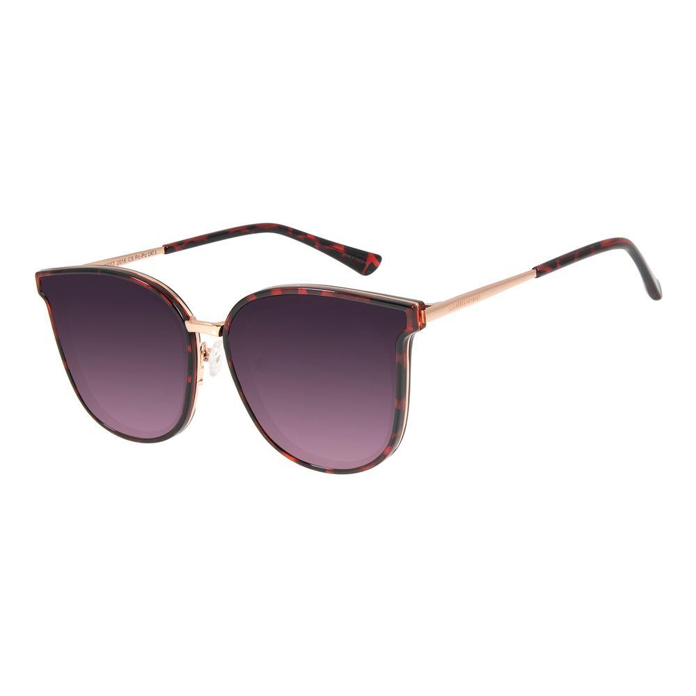 Óculos de Sol Feminino Chilli Beans Quadrado Vermelho OC.CL.2977-2016