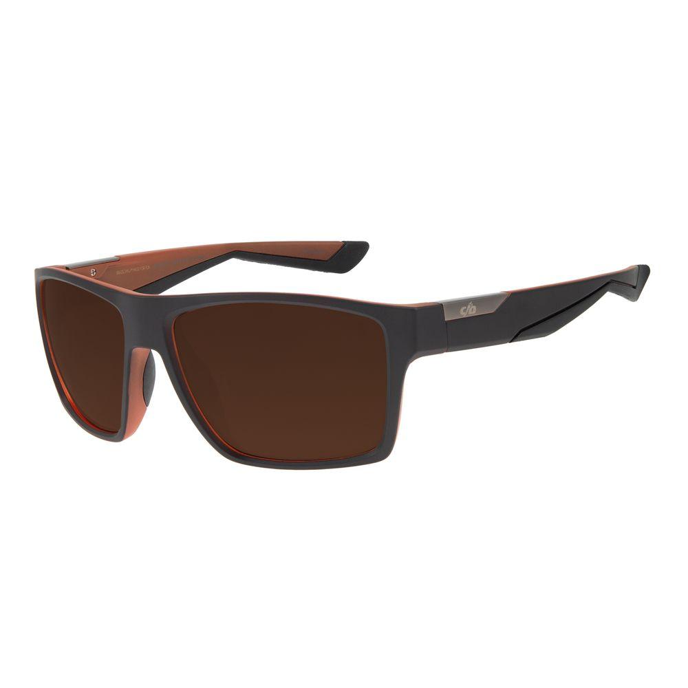 Óculos de Sol Masculino Chilli Beans Esportivo Marrom Escuro Dual Colors OC.ES.1217-0247