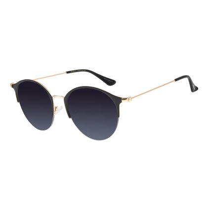 Óculos de Sol Feminino Chilli Beans Redondo Metal Preto OC.MT.2824-2001