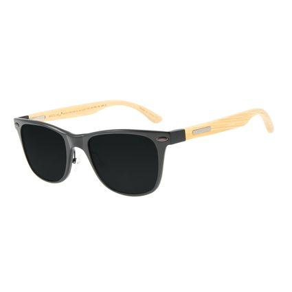 Óculos de Sol Masculino Chilli Beans Bamboo Preto Polarizado OC.AL.0242-0101