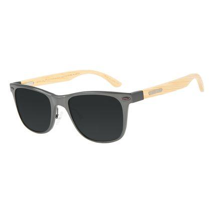 Óculos de Sol Masculino Chilli Beans Bamboo Ônix Polarizado OC.AL.0242-0122