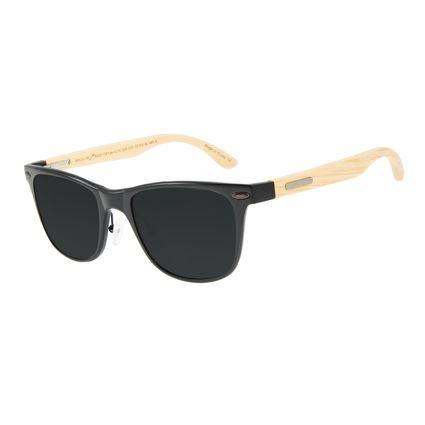 Óculos de Sol Masculino Chilli Beans Bamboo Fosco Polarizado OC.AL.0242-0131