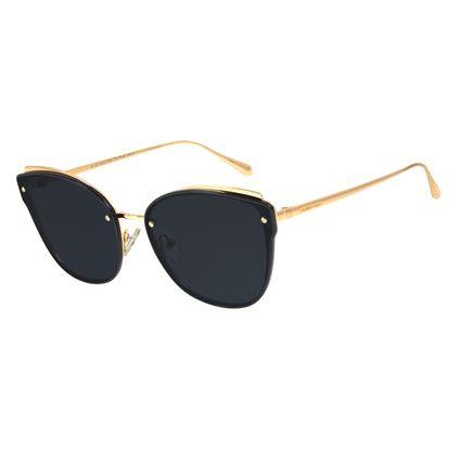 Óculos de Sol Feminino Chilli Beans Quadrado Metal Preto Layers OC.MT.2823-0101