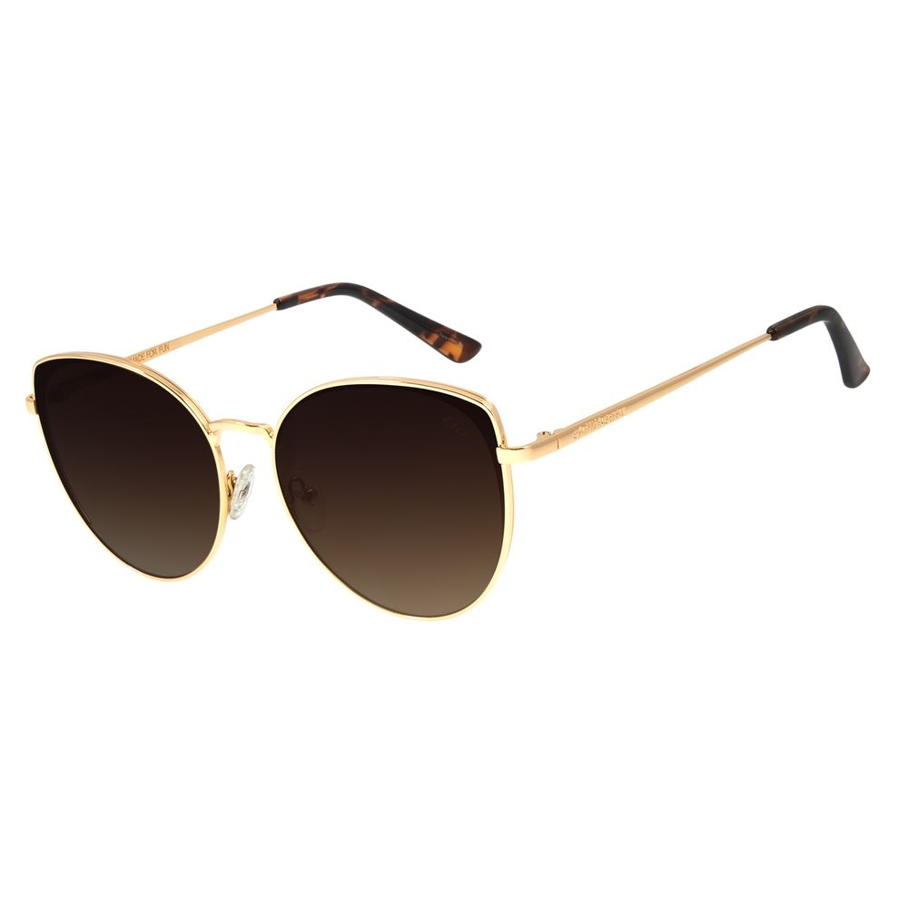 Óculos de Sol Feminino Chilli Beans Redondo Dourado OC.MT.2830-5721