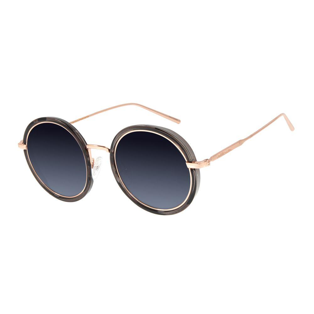 Óculos de Sol Feminino Chilli Beans Redondo Banhado A Ouro Flash OC.MT.2831-0095