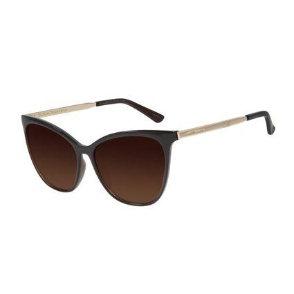 Óculos de Sol Feminino Chilli Beans Quadrado Marrom Escuro Polarizado OC.CL.2921-5747