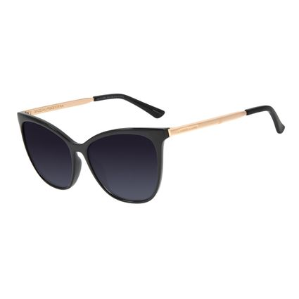 Óculos de Sol Feminino Chilli Beans Quadrado Preto Polarizado OC.CL.2921-2001