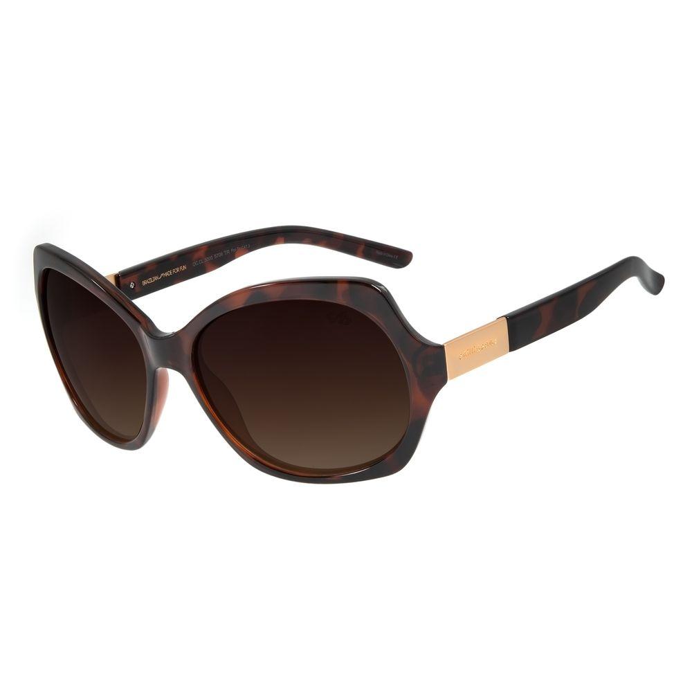 Óculos de Sol Feminino Chilli Beans Quadrado Tartaruga Polarizado OC.CL.3000-5706