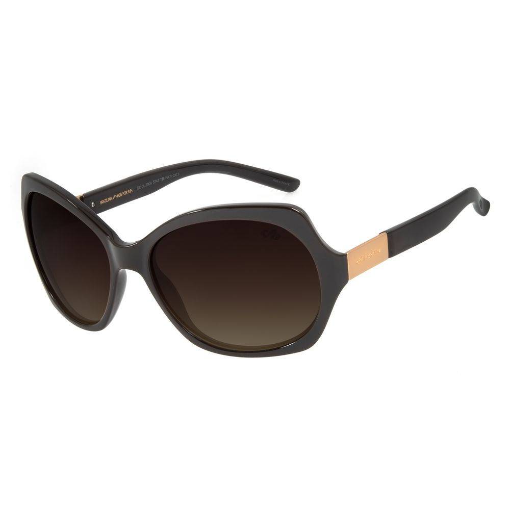 Óculos de Sol Feminino Chilli Beans Quadrado Marrom Escuro Polarizado OC.CL.3000-5747