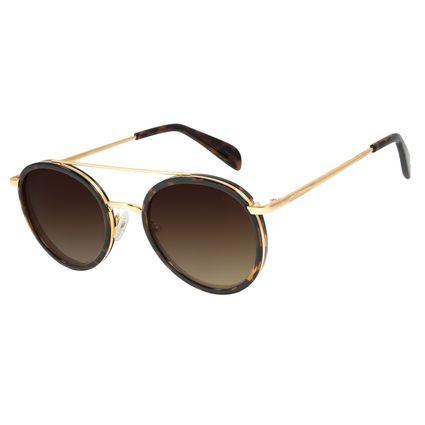 Óculos de Sol Feminino Chilli Beans Banhado A Ouro Dourado OC.MT.2786-5721