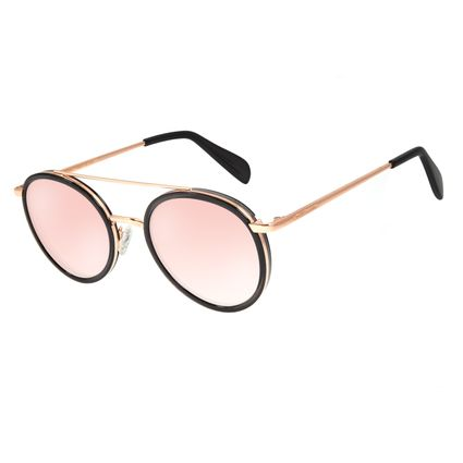 Óculos de Sol Feminino Chilli Beans Banhado A Ouro Rosê OC.MT.2786-9595