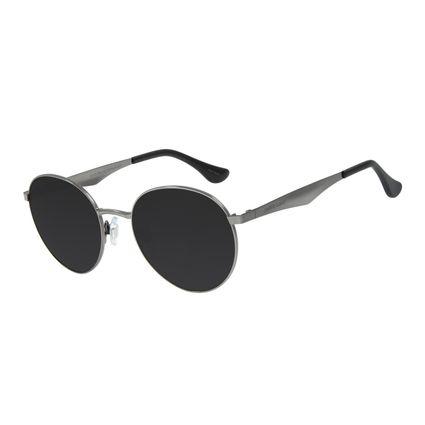 Óculos de Sol Unissex Chilli Beans Redondo Metal Ônix OC.MT.2790-0122