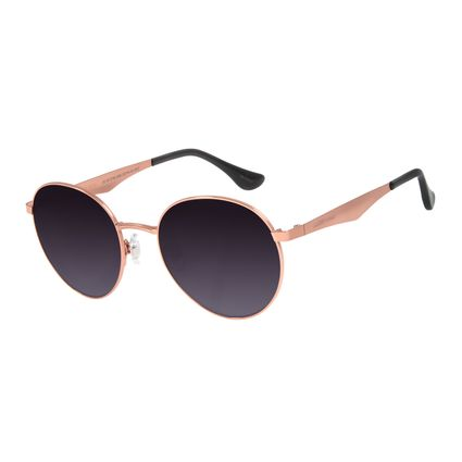 Óculos de Sol Unissex Chilli Beans Redondo Metal Rosê OC.MT.2790-2095