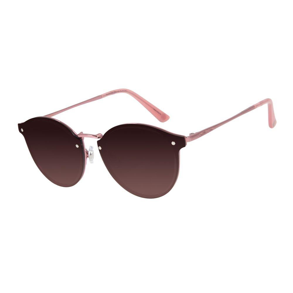 Óculos de Sol Feminino Chilli Beans Redondo Metal Rosê OC.MT.2792-5795