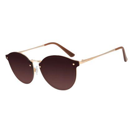 Óculos de Sol Feminino Chilli Beans Redondo Metal Dourado OC.MT.2792-5721