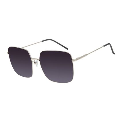 Óculos de Sol Feminino Chilli Beans Quadrado Metal Prata OC.MT.2794-2007