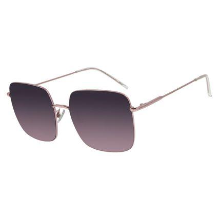 Óculos de Sol Feminino Chilli Beans Quadrado Metal Rosê OC.MT.2794-2095
