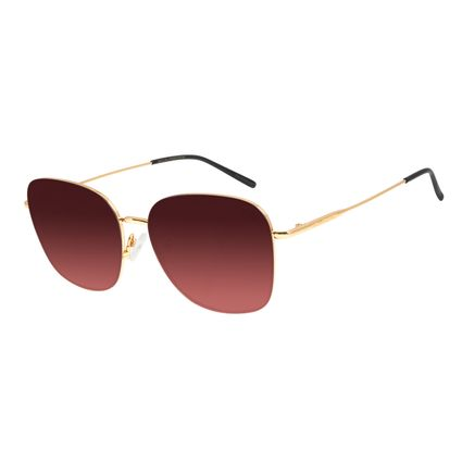 Óculos de Sol Feminino Chilli Beans Quadrado Dourado OC.MT.2854-2021
