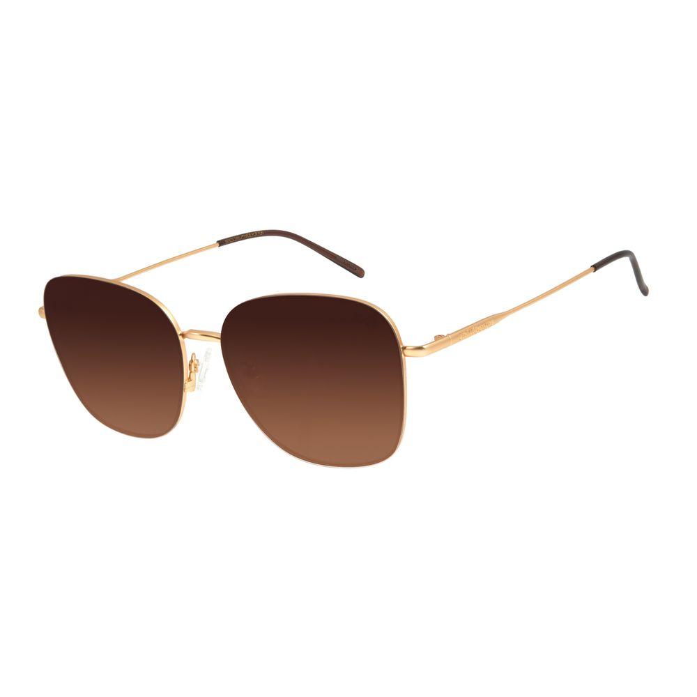 Óculos de Sol Feminino Chilli Beans Quadrado Marrom Degradê OC.MT.2854-5721