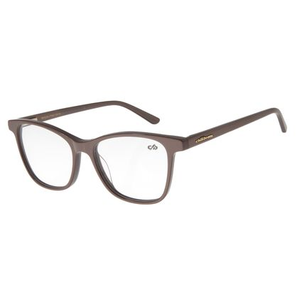 Armação Para Óculos de Grau Feminino Chilli Beans Quadrado Classic Marrom Claro LV.AC.0524-2323