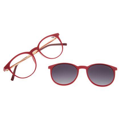 Armação Para Óculos de Grau Unissex Chilli Beans Redondo Multi Vermelho LV.MU.0216-2016