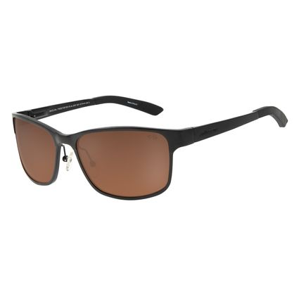 Óculos de Sol Masculino Chilli Beans Esportivo Marrom Polarizado OC.AL.0237-0201