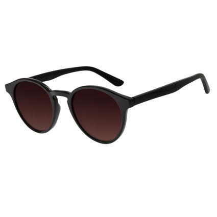 Óculos de Sol Unissex Água de Coco Redondo Preto OC.CL.2969-5701