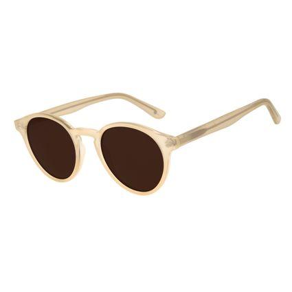 Óculos de Sol Unissex Água de Coco Redondo Bege OC.CL.2969-5723